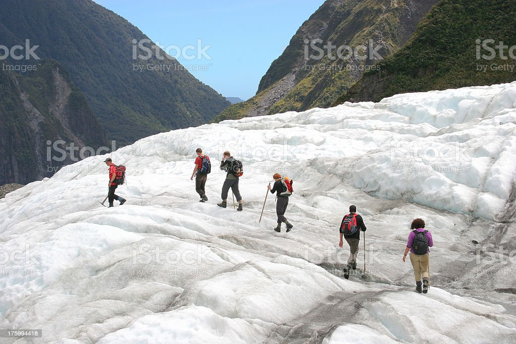 Glacier Hikers stock photo