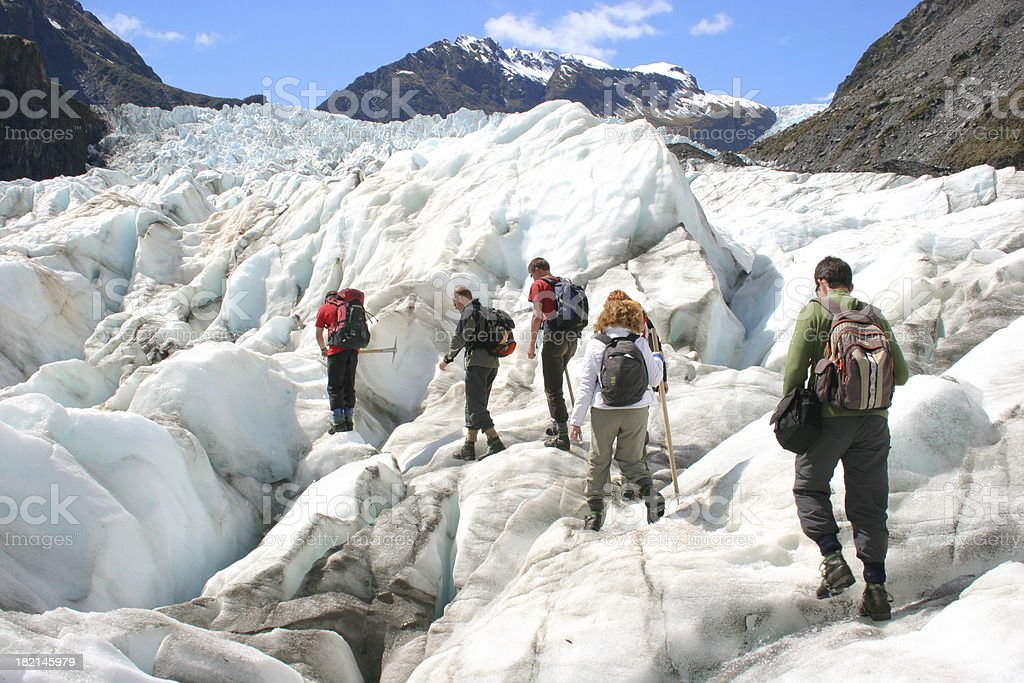 Glacier Hikers stock photo