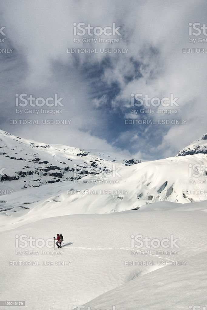 Glacier hiking stock photo