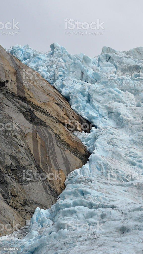 Glacier Ice - Briksdalsbreen stock photo
