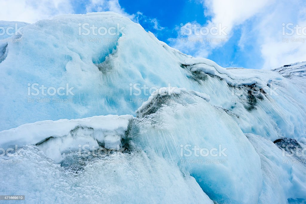 Glacier Ice stock photo