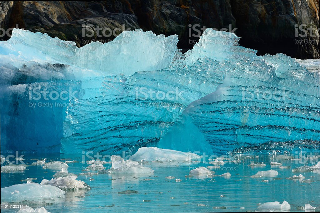 Glacier Ice Shelf in Alaska stock photo