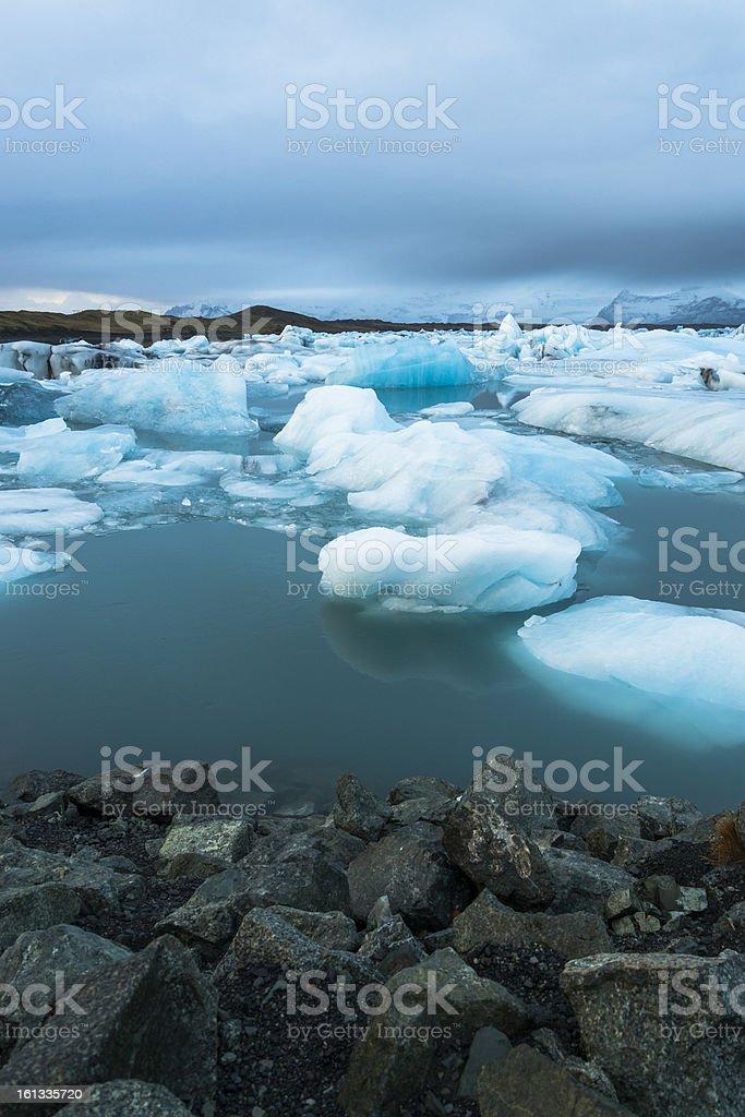 Glacier Iceberg, Iceland royalty-free stock photo