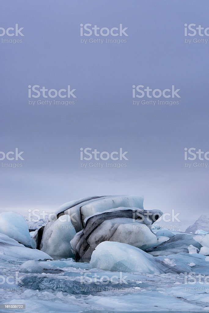 Glacier Iceberg, Iceland royalty-free stock photo