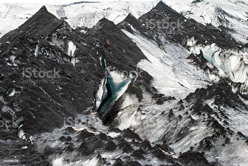 glacier iceland detail stock photo