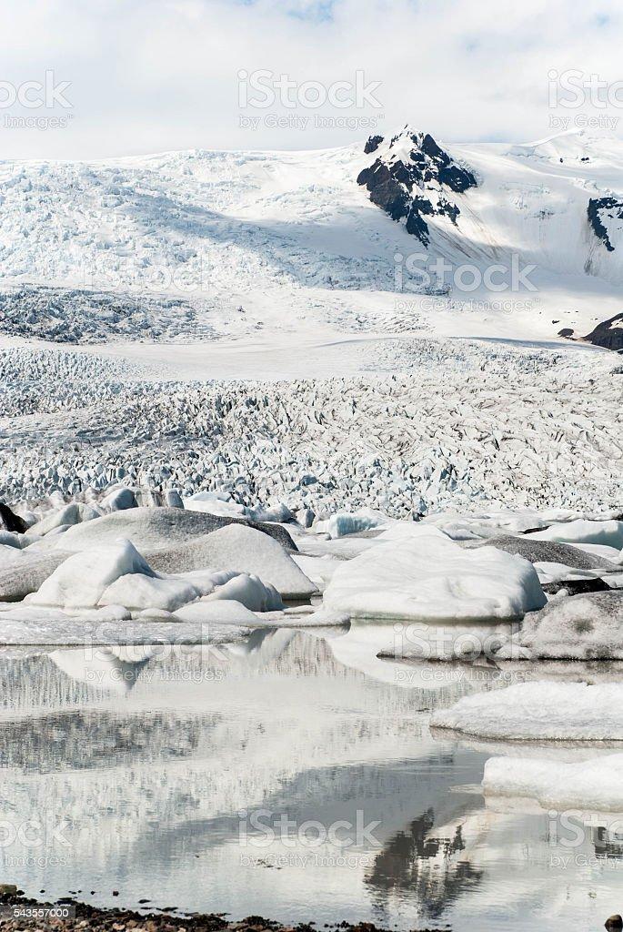 glacier Iceland stock photo