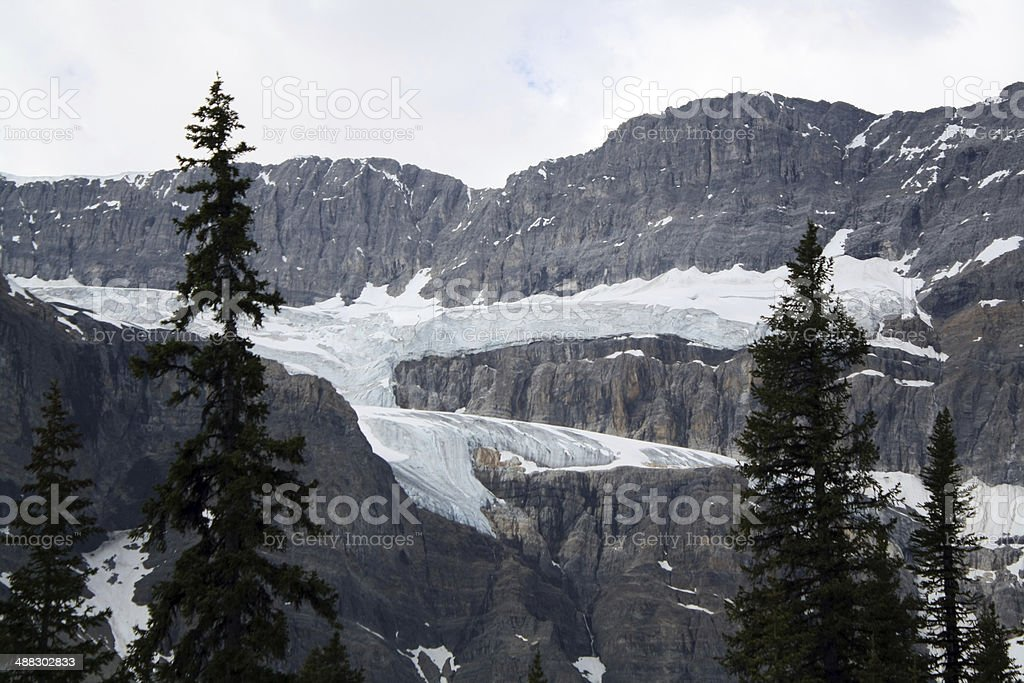 Glacier in Banff National Park stock photo