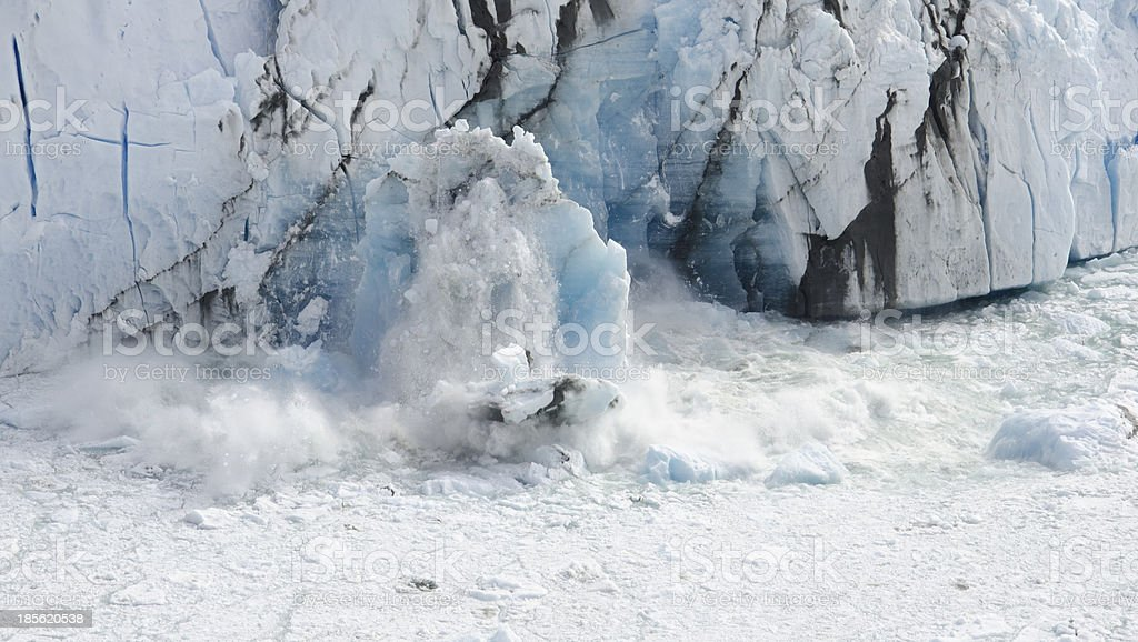 Glaciar en Caida stock photo