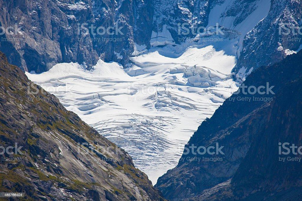 Glacier in Grandes Jorases - French Alps stock photo