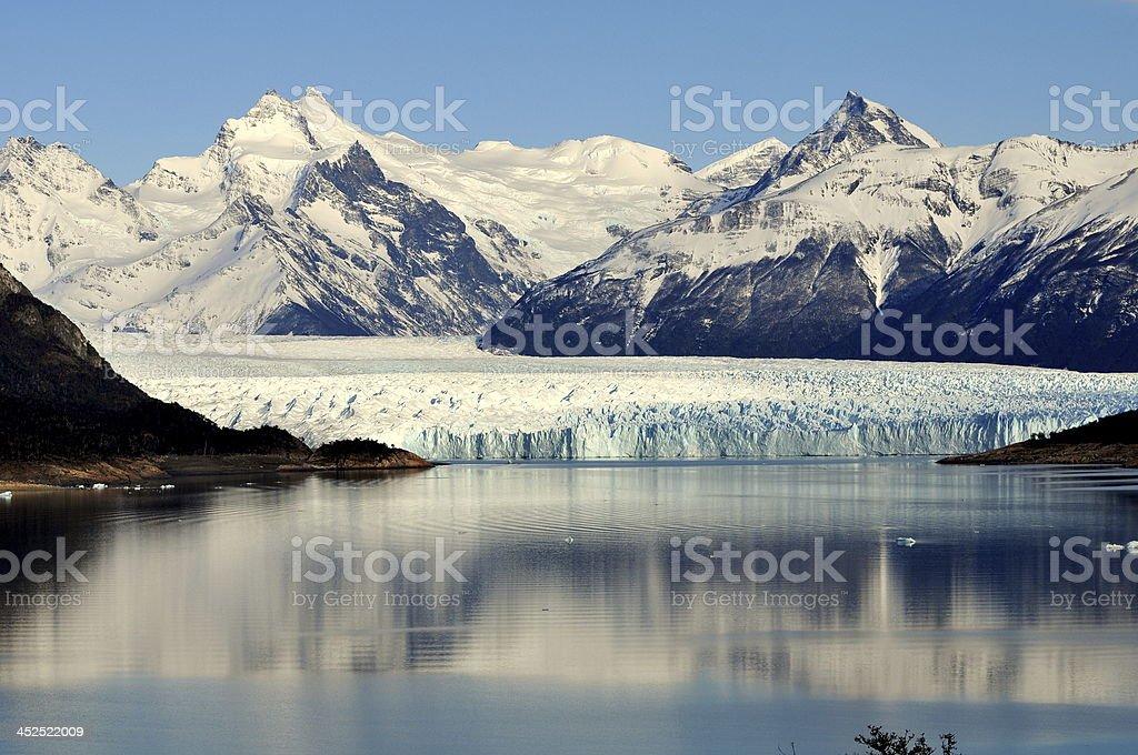 Glaciar en Perito Moreno stock photo