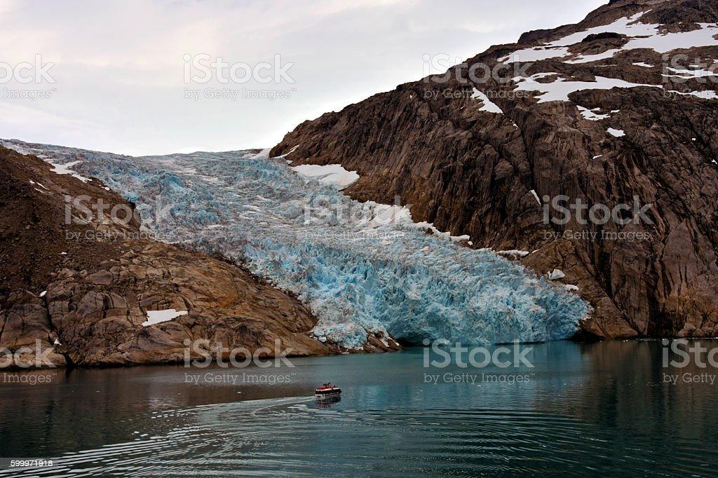 Glacier in Prince Christian Sound stock photo