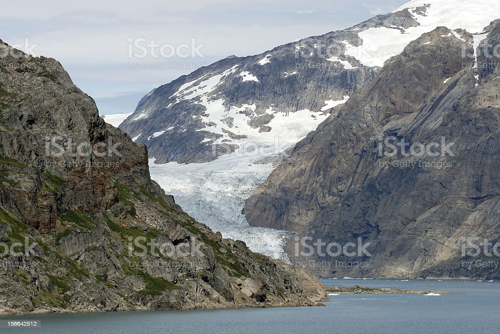 Glacier in Prins William Sound, Greenland royalty-free stock photo