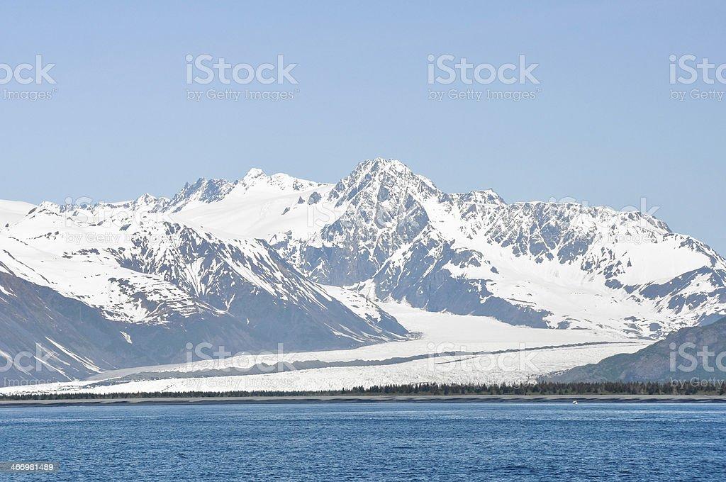 Glacier in Resurrection Bay (Alaska) stock photo