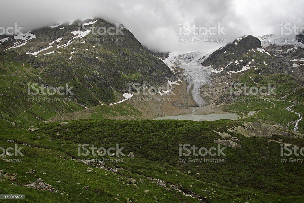 Glacier (Steingletscher) in Switzerland stock photo