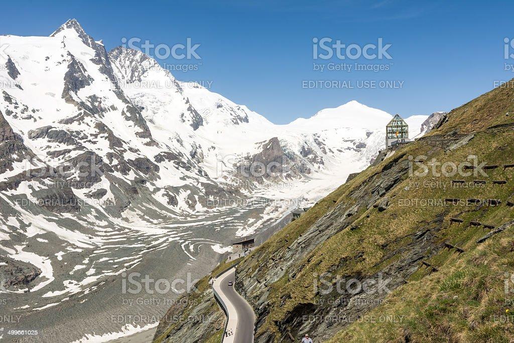 Glacier in the alps stock photo