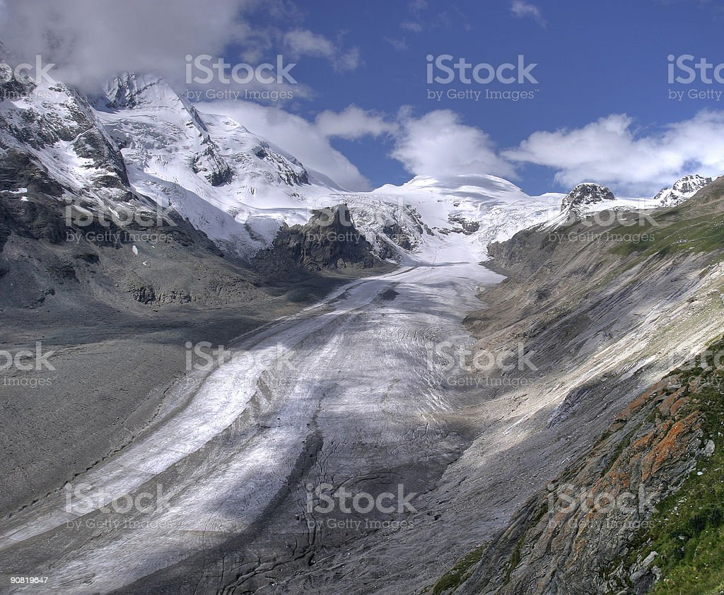 Glacier in the Alps royalty-free stock photo