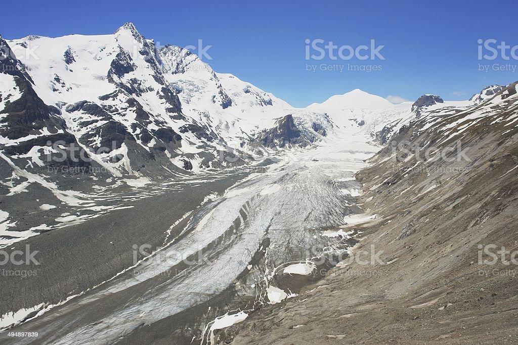 Glacier in the Austrian Alps stock photo