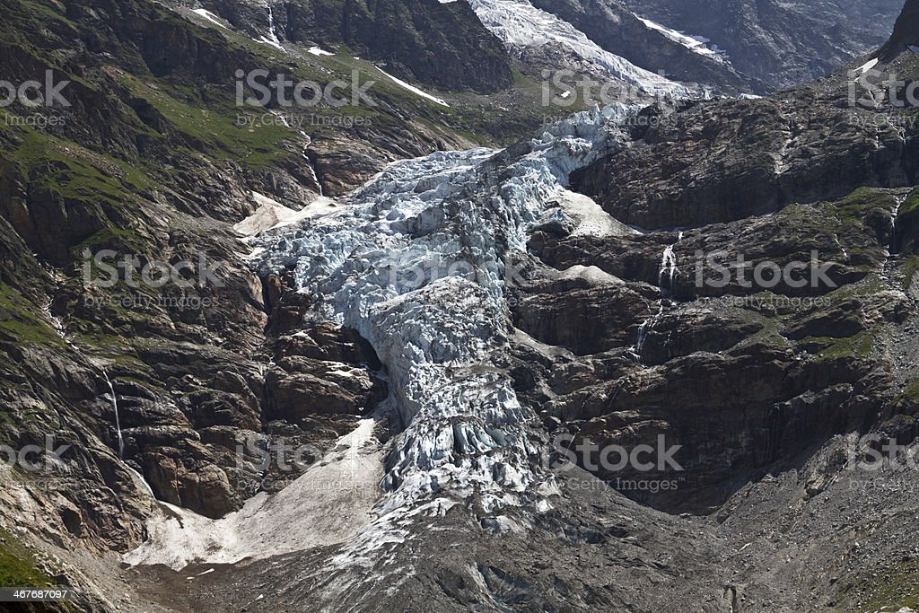 Glacier in the Swiss alps royalty-free stock photo