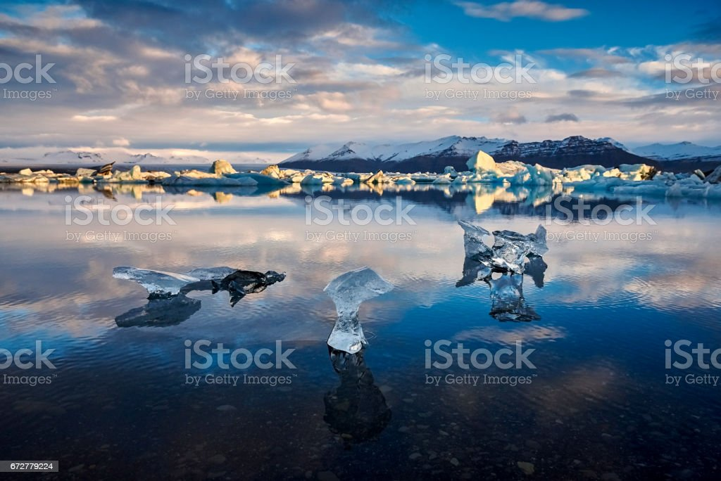 Glacier Lagoon in east Iceland stock photo