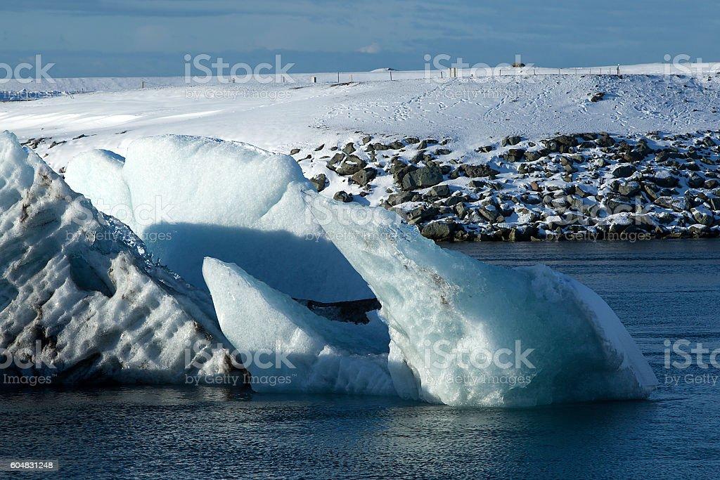 Glacier lagoon Jokulsarlon, Iceland stock photo