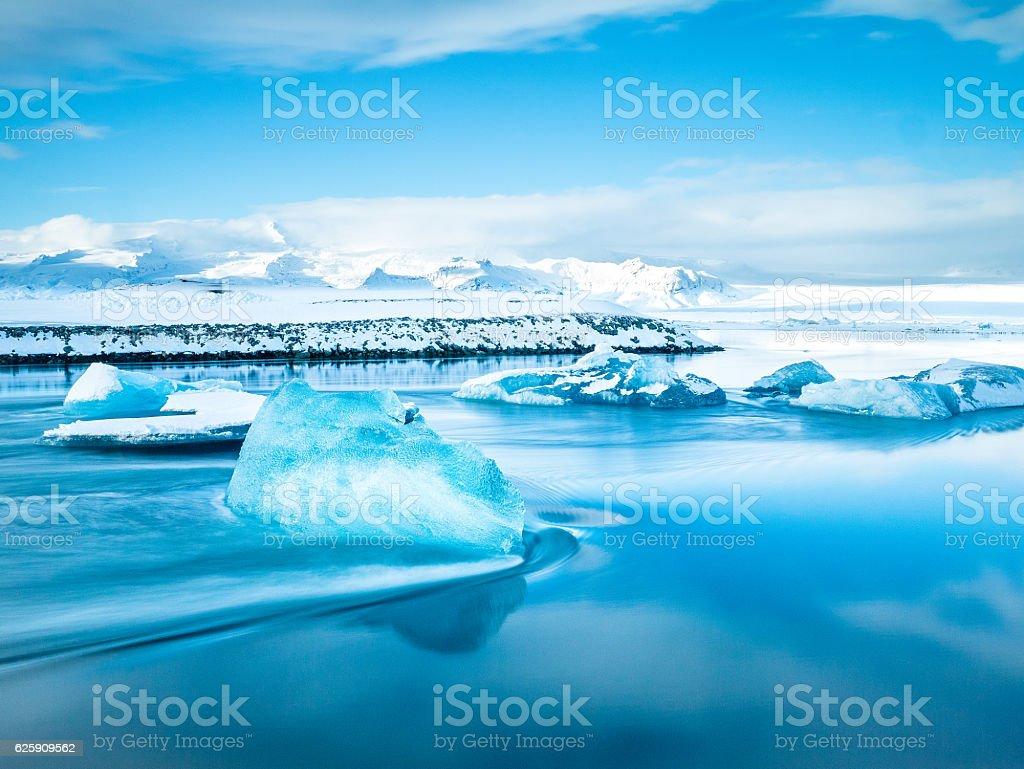 Glacier Lagoon Jokulsarlon - Iceland stock photo