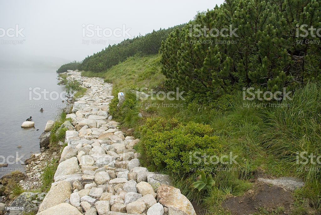 Glacier lake in high mountains royalty-free stock photo