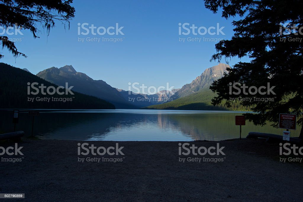 NW Glacier Lake stock photo