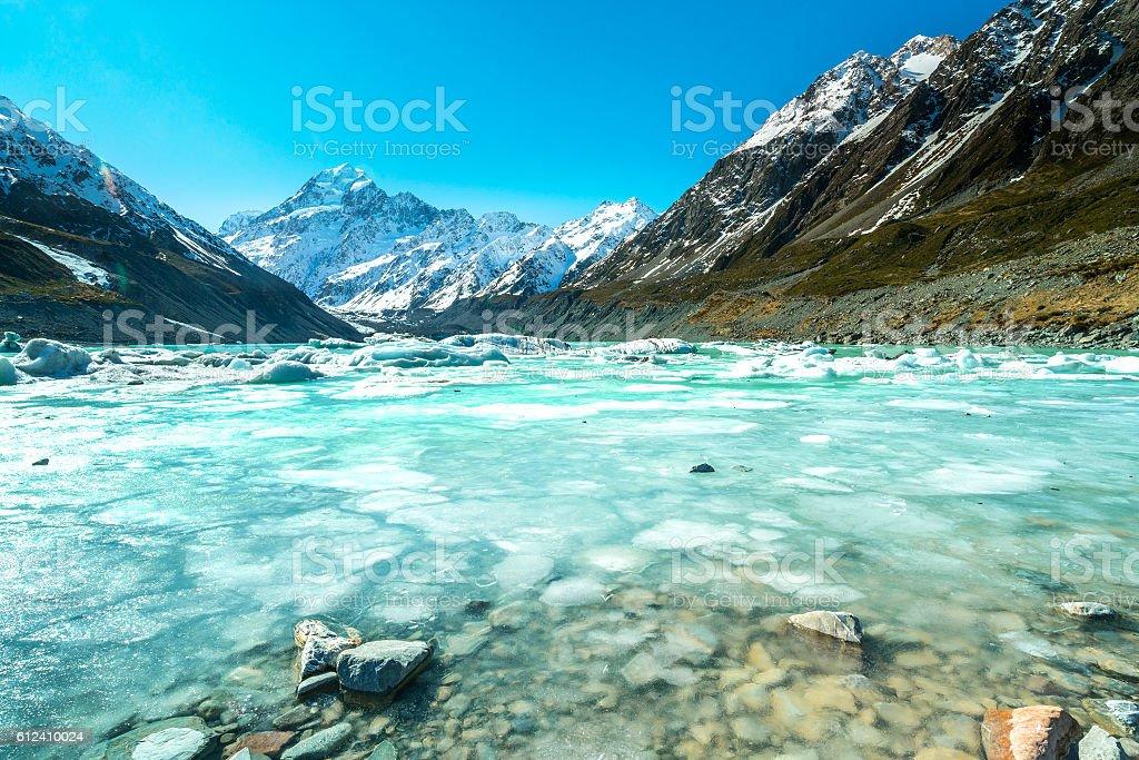 Glacier lake stock photo