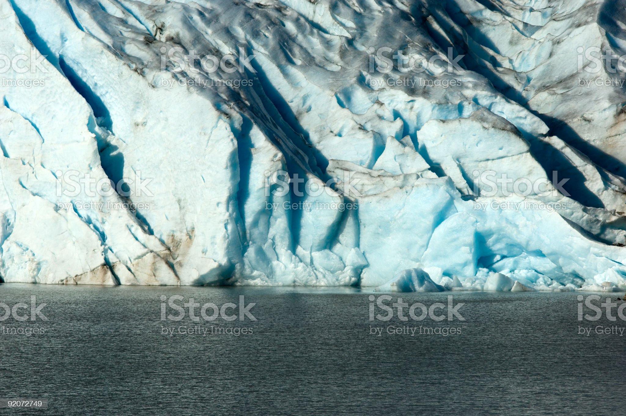 Glacier lake royalty-free stock photo