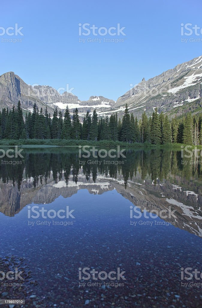 Glacier Lake Reflection royalty-free stock photo