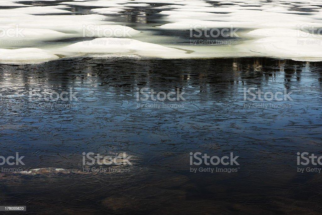 Glacier Meltwater Frozen Lake Ice royalty-free stock photo