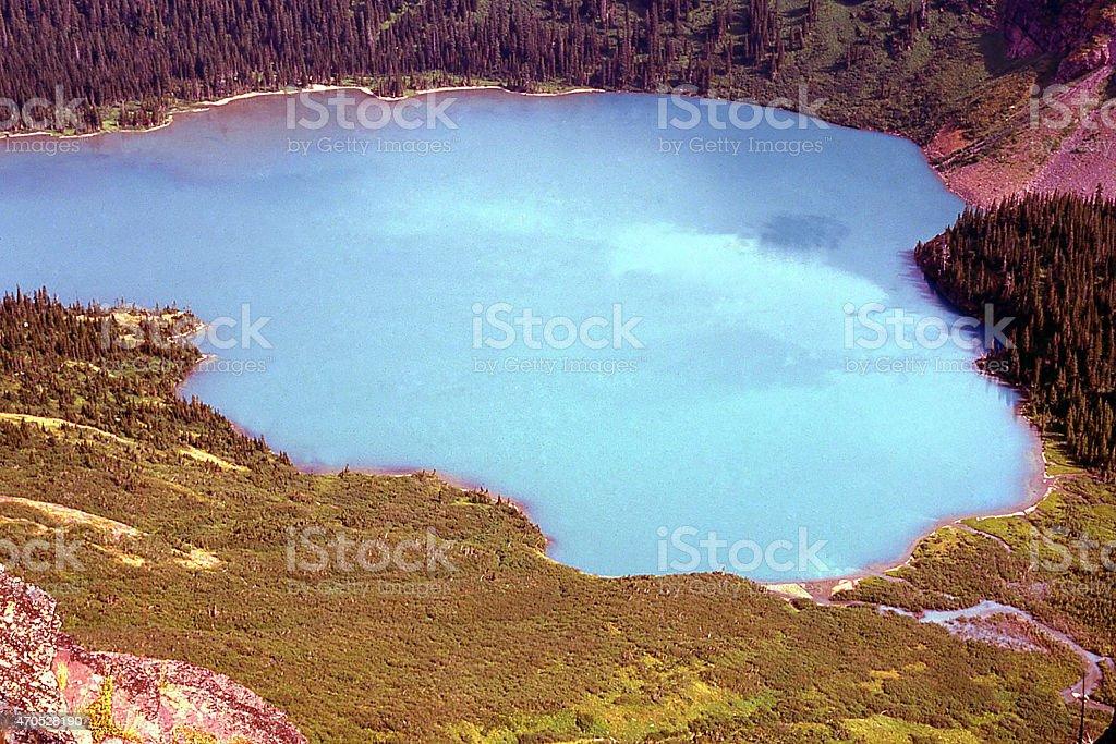 Glacier Milk Runoff from Glacial Erosion into Lake Montana stock photo