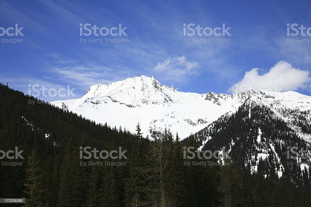 Glacier Mountain . Roger's Pass British Columbia stock photo
