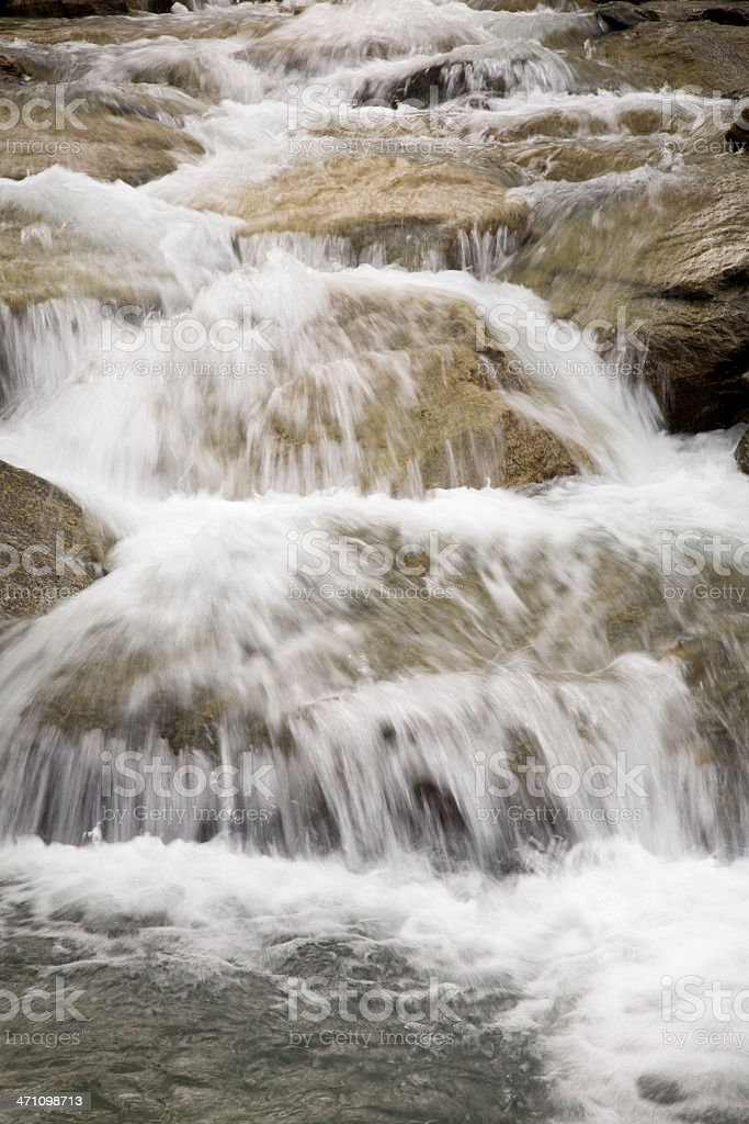 glacier mountain stream stock photo