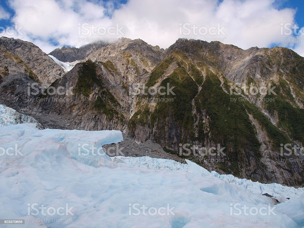 Glacier mountain view stock photo