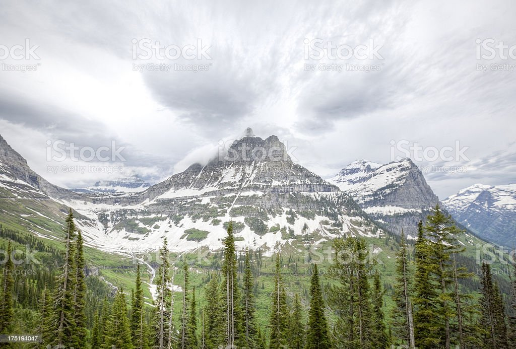 Glacier National Park Continental Divide stock photo