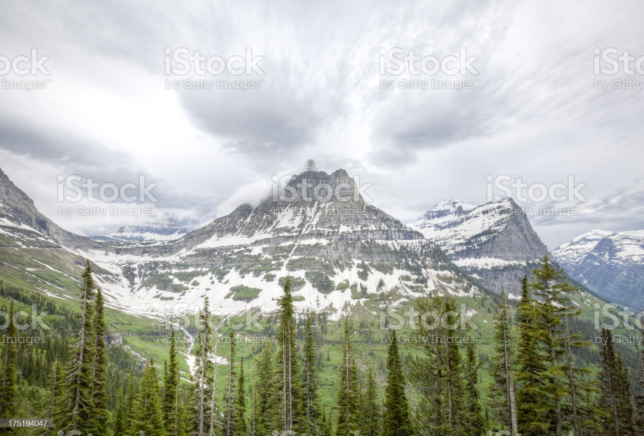 Glacier National Park Continental Divide royalty-free stock photo