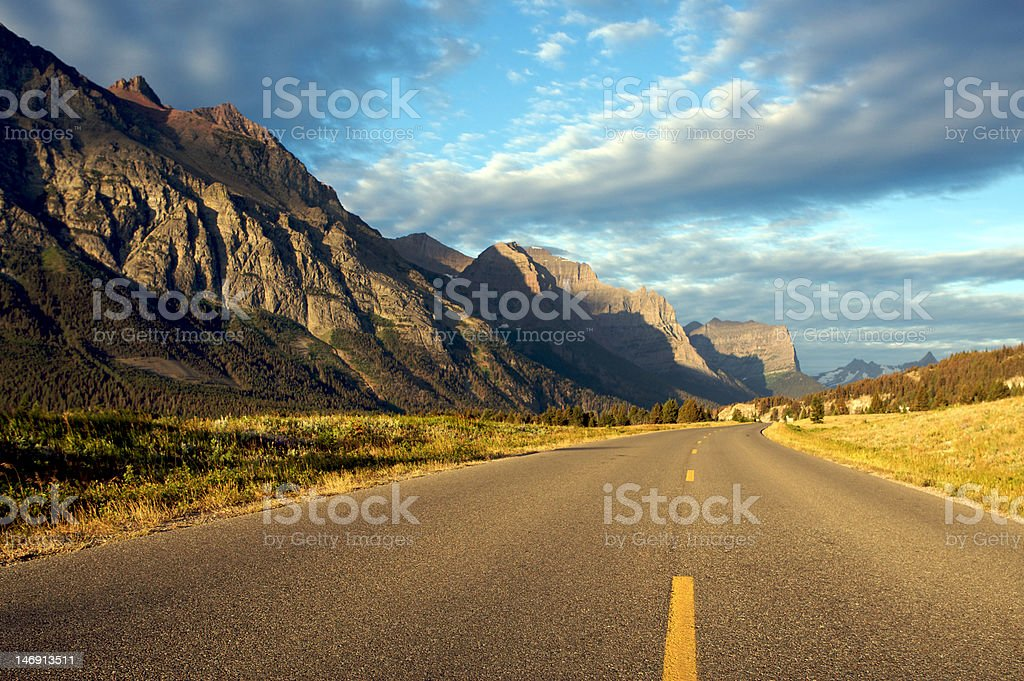 Glacier National Park, Going to the Sun Road royalty-free stock photo
