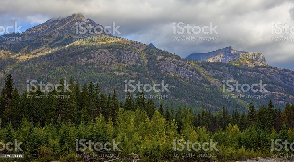 Glacier National Park - Going to the Sun Road royalty-free stock photo