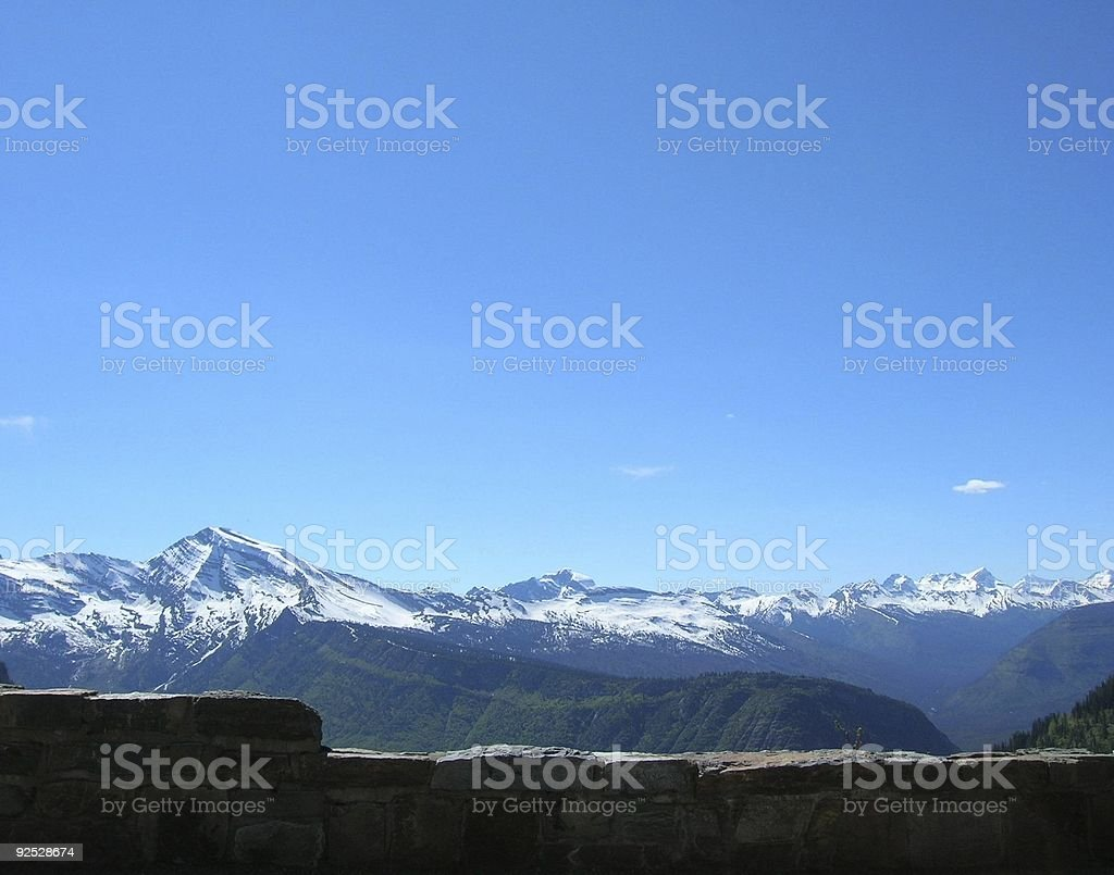 Glacier National Park Heaven's Peak - Wall View royalty-free stock photo