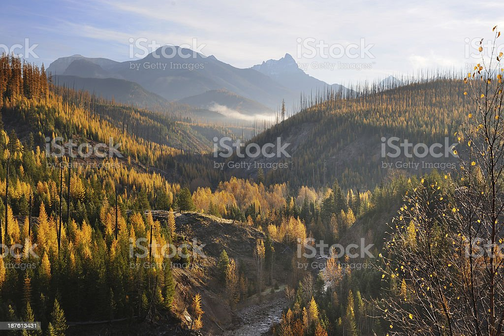 Glacier National Park in Autumn stock photo