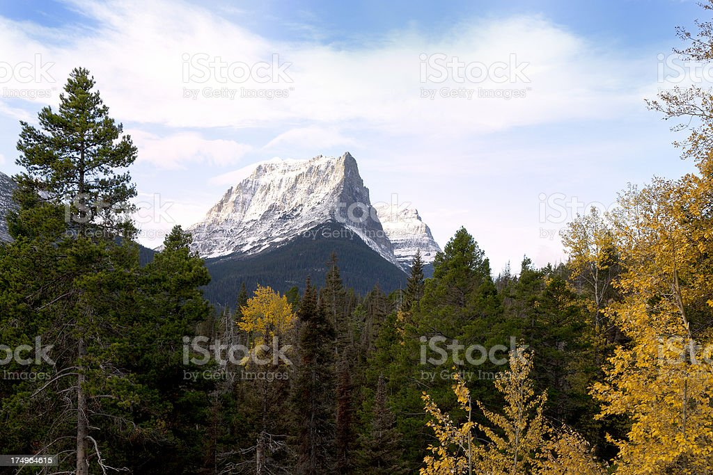 Glacier National Park in fall, Montana royalty-free stock photo