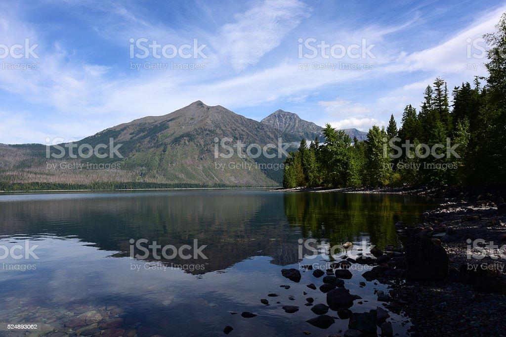 Glacier National Park in Montana, USA stock photo