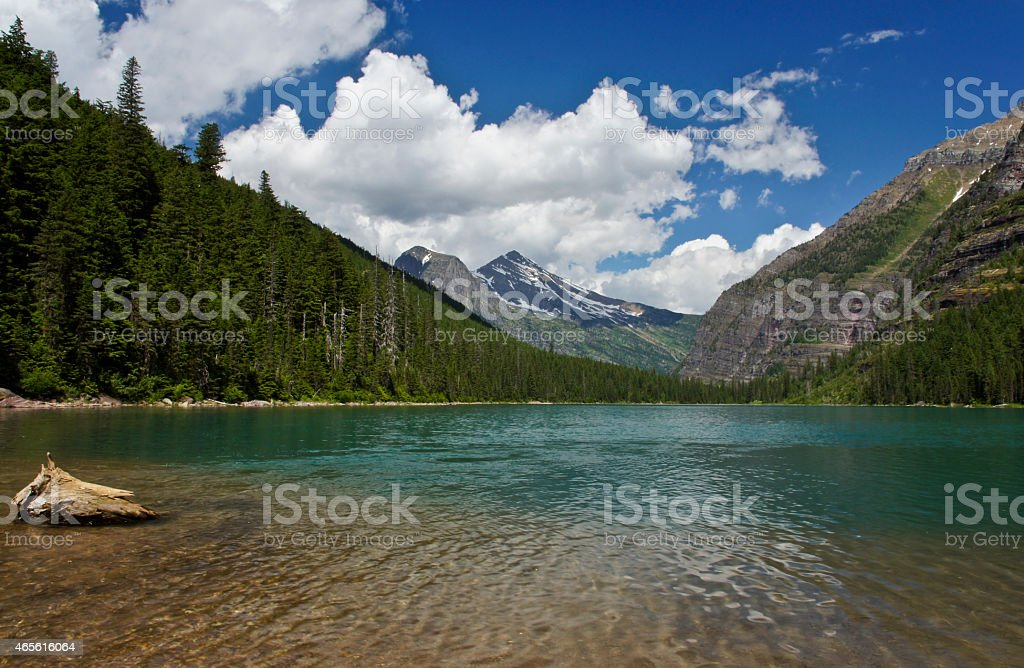 Glacier National Park in Northern Montana stock photo