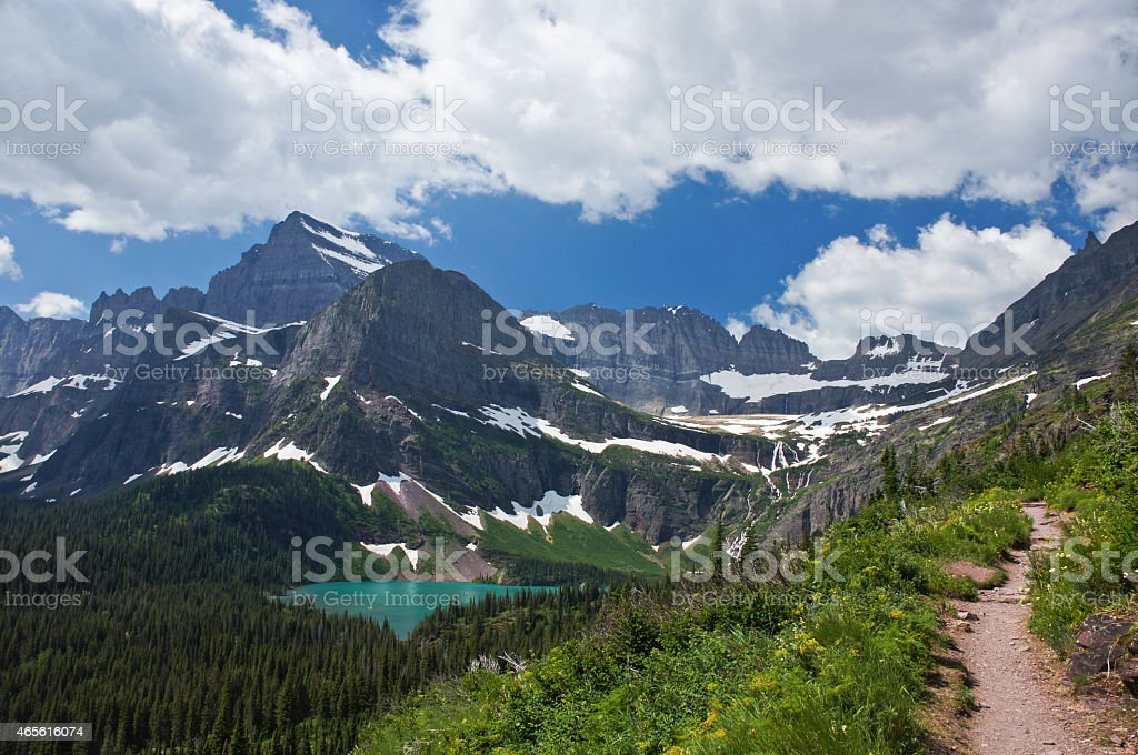 Glacier National Park in Northern Montana stock photo