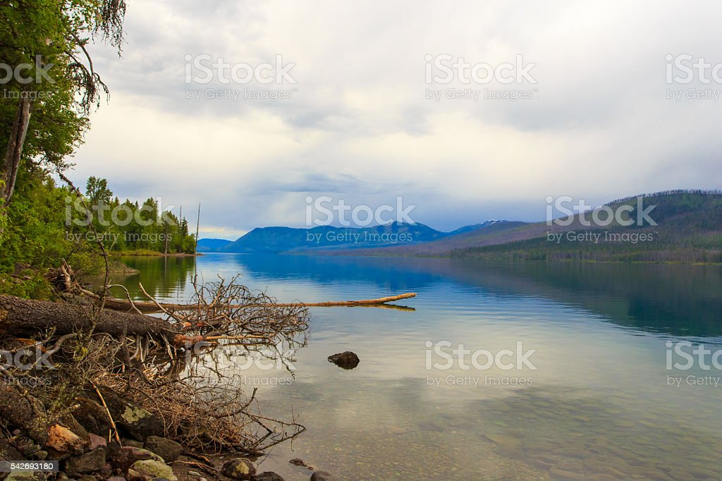 Glacier National Park - Lake McDonald. stock photo
