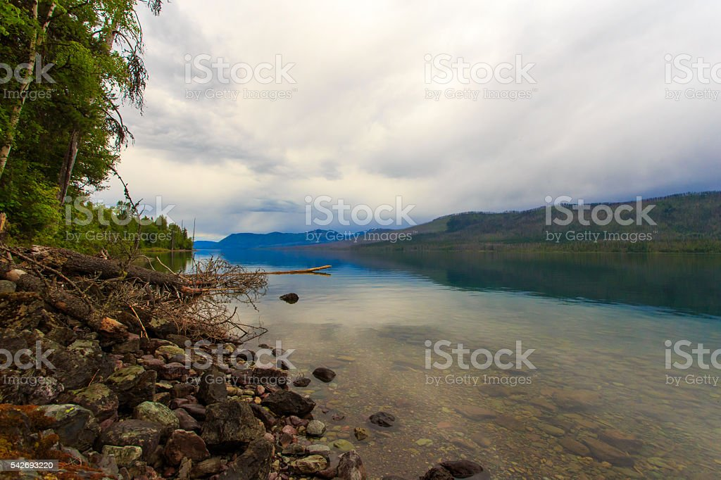 Glacier National Park - Lake McDonald. stock photo