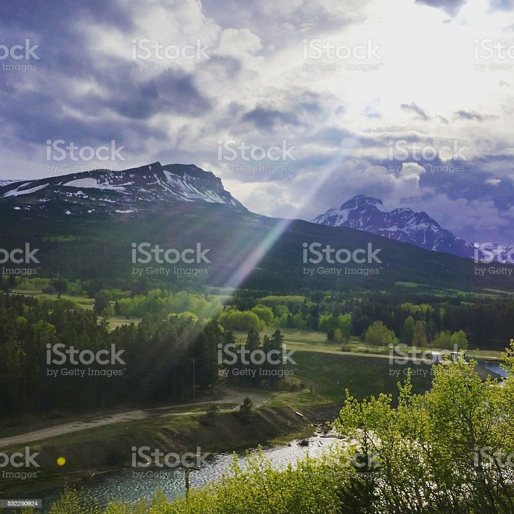 Glacier National Park Landscape Montana USA stock photo