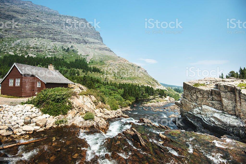 Glacier national park landscape stock photo