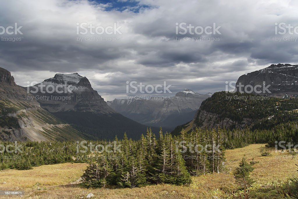 Glacier National Park: Logan Pass royalty-free stock photo